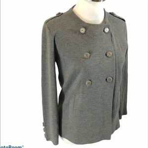 Tory Burch Double Breasted Grey Wool Cardigan Med